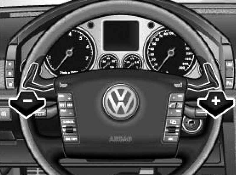 manual gear changes tiptronic selector volkswagen touareg rh automanuals biz Cars with Shiftable Automatic Transmission Manumatic Transmission