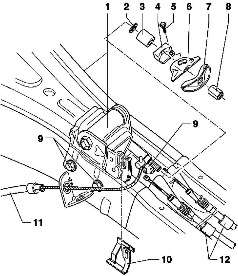Removal And Installation Of The Lever Of The Foot Parking Brake  Volkswagen Touareg  From 2003