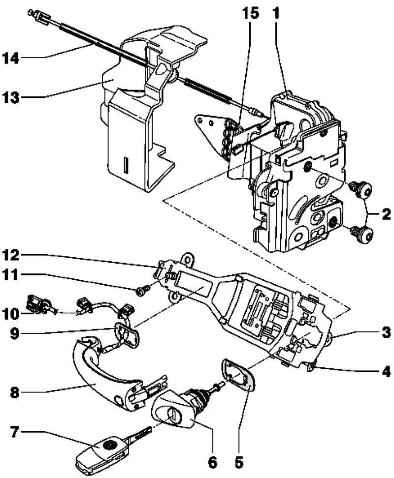 Removal And Installation Of The Lock Cylinder Housing  Volkswagen Touareg  From 2003 To 2006